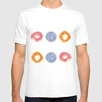 Doughnut Selection Mens Fitted Tee White SMALL