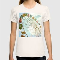 Sky is the Limit Womens Fitted Tee Natural SMALL