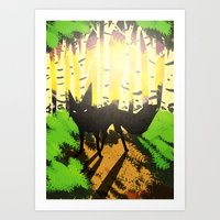 The Fox (Tenko King) Art Print