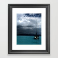 Stormy Sails Framed Art Print