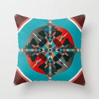 Compass, Palette 2 Throw Pillow