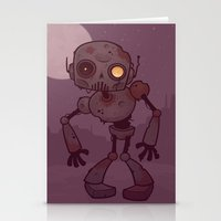 Rusty Zombie Robot Stationery Cards