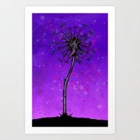 Dandelion Tree Art Print