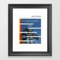 JZs Resume Framed Art Print