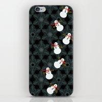 Snowing Snowmen iPhone & iPod Skin