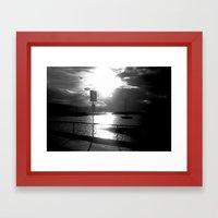 On the dock of the Bay! Framed Art Print