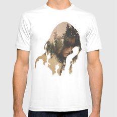 Lost In Thought Mens Fitted Tee SMALL White