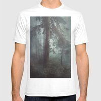 Misty Wilderness Mens Fitted Tee White SMALL
