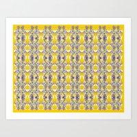 Rorschach Succulent - Co… Art Print