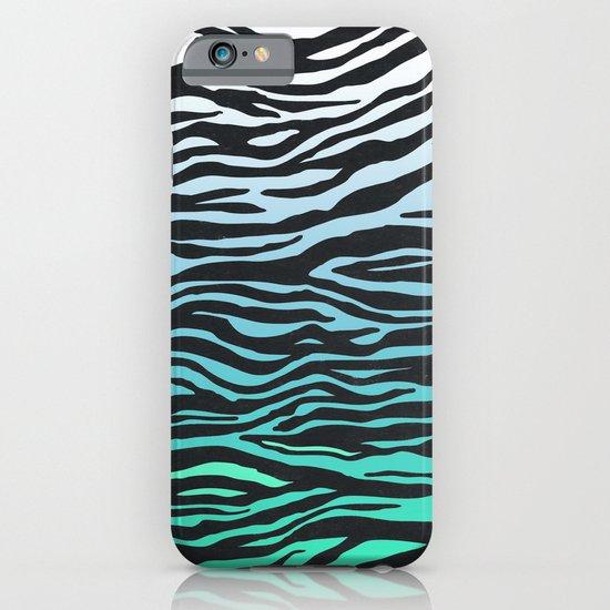 TEAL ZEBRA FADE iPhone & iPod Case