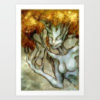 Golden Dryad Art Print