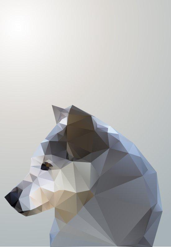 GEO - WINTER FOX Art Print
