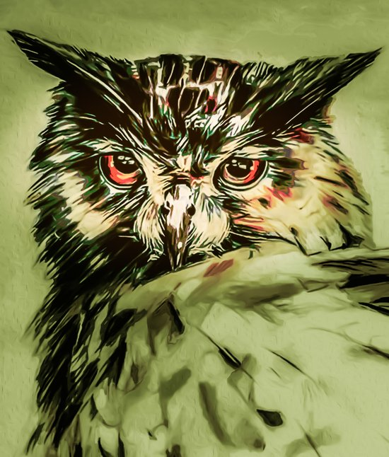 My Owl - Owliver Art Print