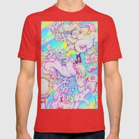 Music Response Mens Fitted Tee Red SMALL