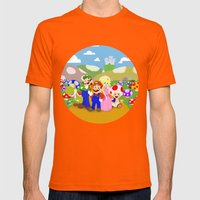 Mario & Friends Mens Fitted Tee Orange SMALL