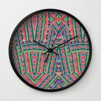 watermelon tribe Wall Clock