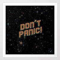 Don't Panic! Pixel Art Art Print