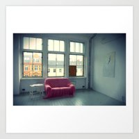 The Pink Sofa' Art Print