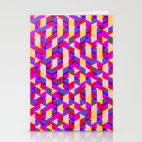 Myth Syzer - Neon (Patte… Stationery Cards