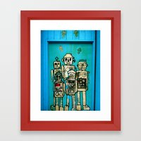 Robot Door Framed Art Print
