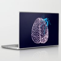 brain Laptop & iPad Skins featuring Brain by Emilie Ringlet