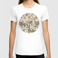 rose T-shirts featuring Soft Vintage Rose Pattern by micklyn