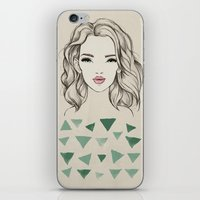 Green girl iPhone & iPod Skin