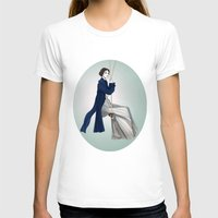 Fashion Illustration - Pride & Prejudice Womens Fitted Tee White SMALL