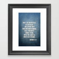 PROVERBS 3:5-6 Framed Art Print
