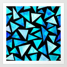 Blue Triangle Mountains Art Print
