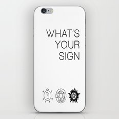 What's Your Sign? Supern… iPhone & iPod Skin