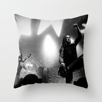 Machine Head Throw Pillow