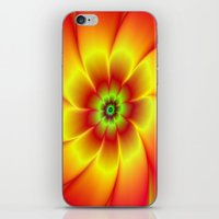 Red Yellow Green and Orange Flower iPhone & iPod Skin