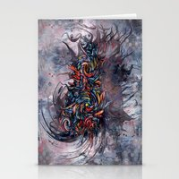 Abstract Wash 3 Stationery Cards