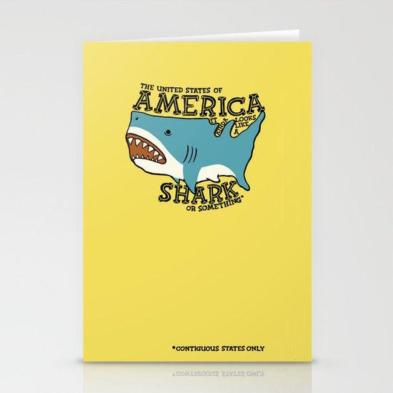 America…   it kinda looks like a shark or something Stationery Card