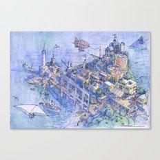 Paesaggio Di Fantasia 03 Canvas Print