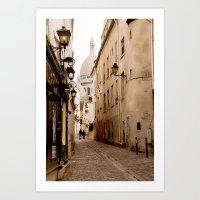 A Walk To The Sacré Coe… Art Print