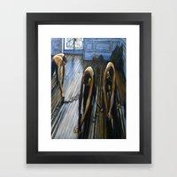 Floor Scrapers Framed Art Print