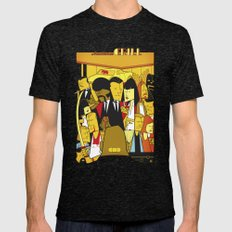 Pulp Fiction Mens Fitted Tee Tri-Black SMALL