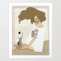 welcome in Art Print