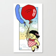Flying balloon Canvas Print