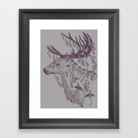 Rain Deer Framed Art Print