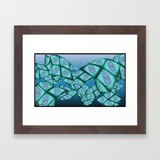 Fractal sea Framed Art Print
