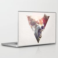 moon Laptop & iPad Skins featuring daylight moon by Robert Farkas