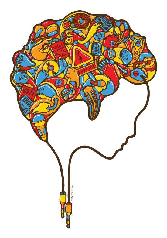 Musical Mind Art Print