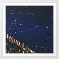 christmas lights ...  Art Print