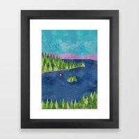 Around the lake  Framed Art Print