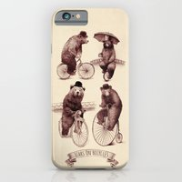iPhone Cases featuring Bears on Bicycles by Eric Fan