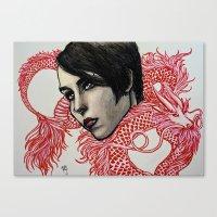 Dragon Tattoo Canvas Print