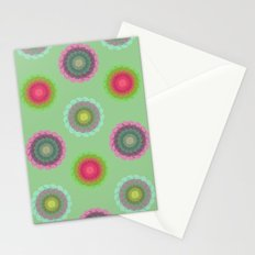 transparent floral pattern 4 Stationery Cards